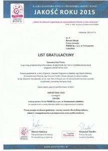 lista gratulacyjny